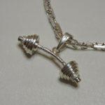 Кулон серебряная штанга