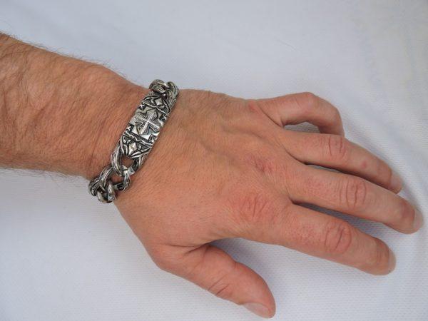 Браслет медицинская нержавеющая сталь, браслет для мужчины