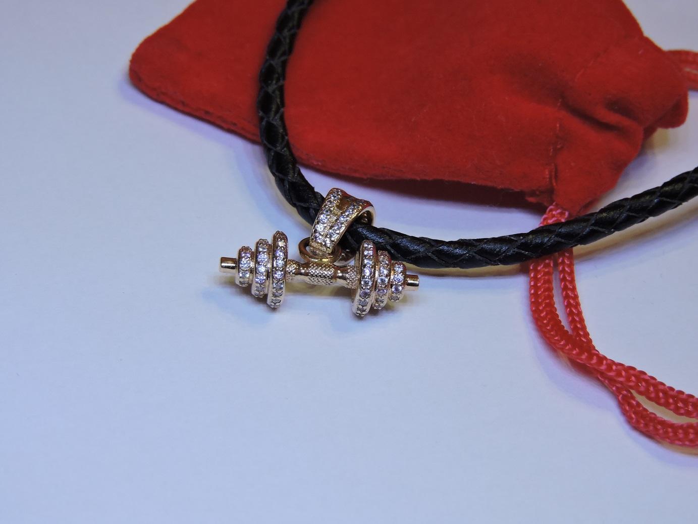 Подарок тренеру женщине золотая гантель