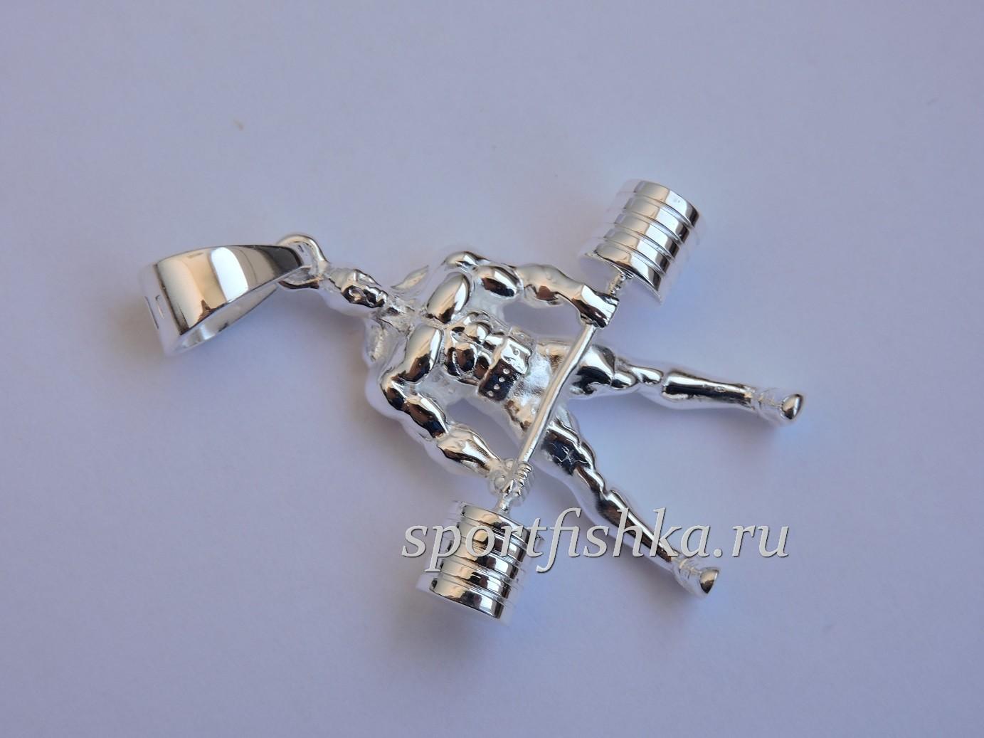 Подарок пауэрлифтеру из серебра