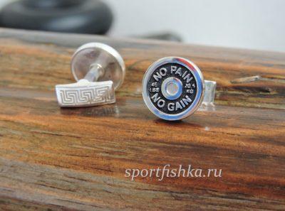 Запонки для спортсмена диск от штанги