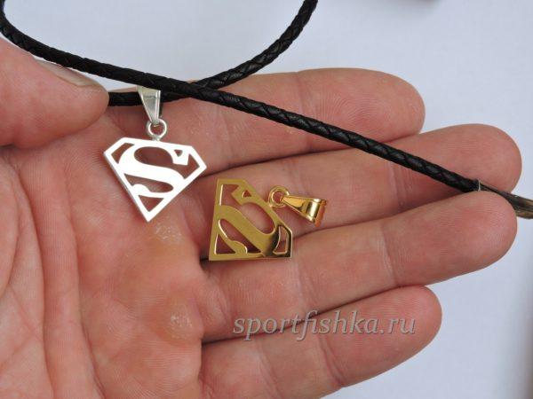 Кулон супермен золото и серебро