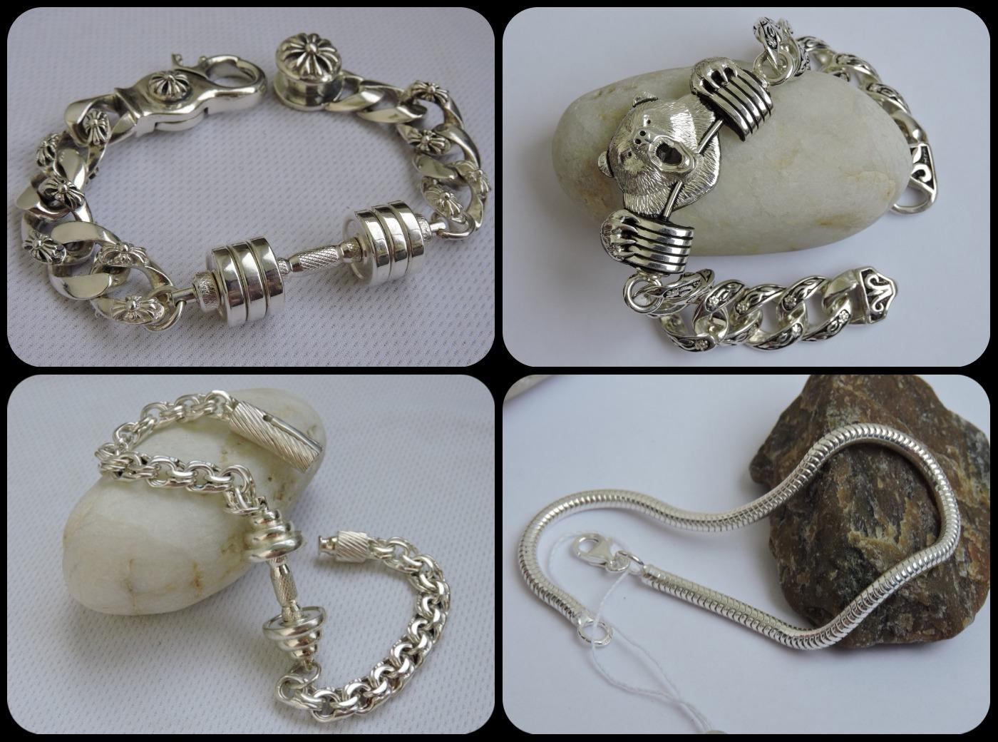 Серебряные браслеты для спортсменов