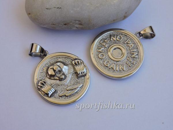 Кулон диск от штанги сталь