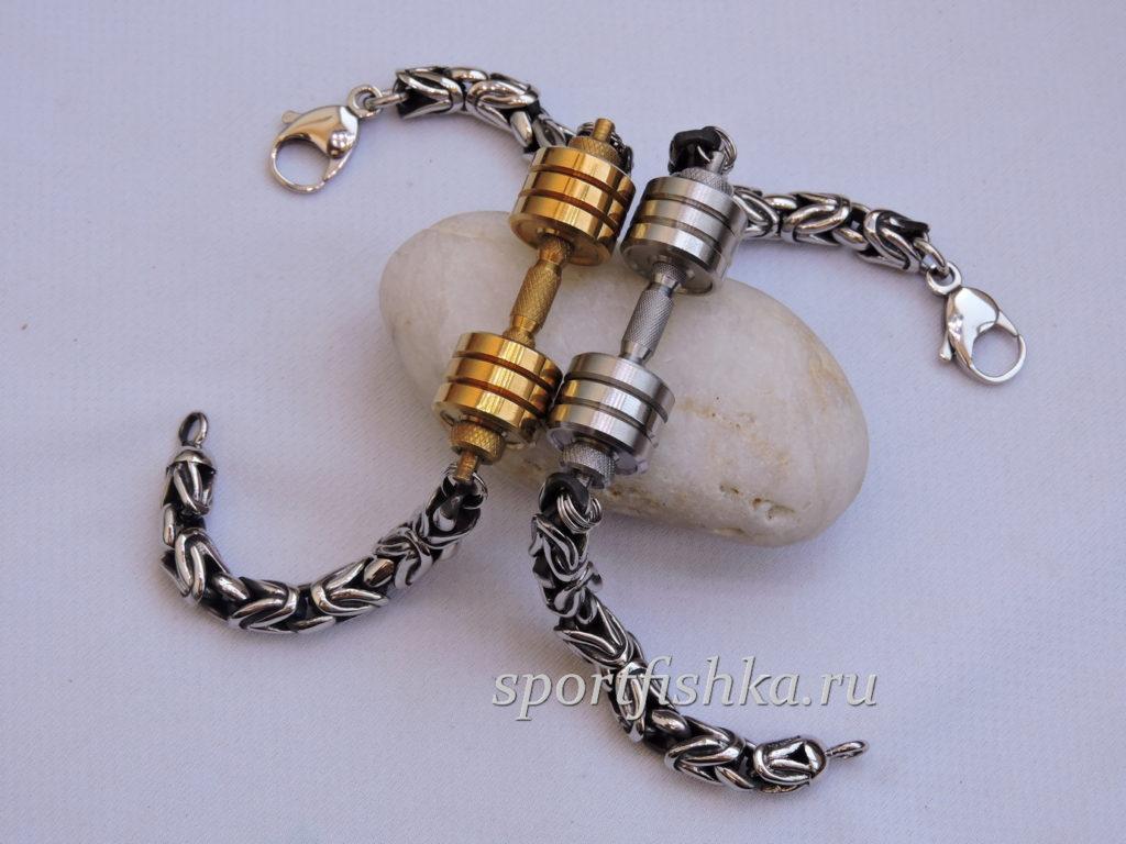 Подарки для спортсмена браслеты с гантелей
