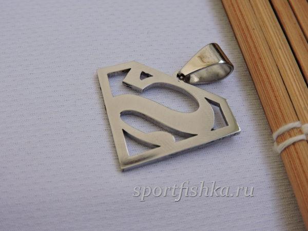 Кулон брелок супермен стальной