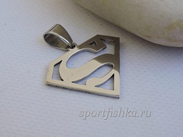 Кулон супермен сталь