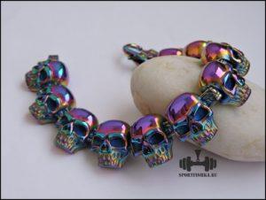 Браслет черепа цветной