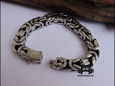 Большой мужской браслет плетение лисий хвост