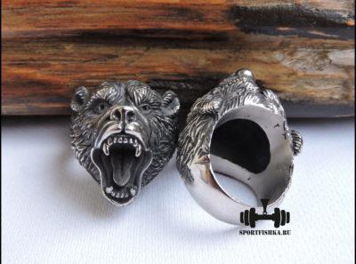 Кольцо с медведем