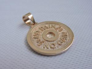 Золотой диск от штанги