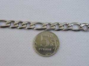 Фигаро цепь стальная