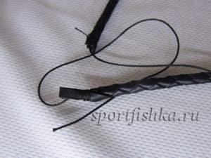 Купить черный кожаный шнур