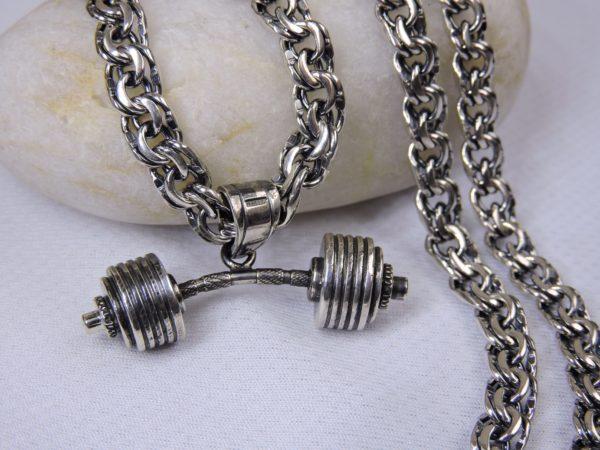 Штанга из серебра, спортивный подарок