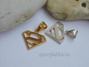 Кулоны супермен золото и серебро