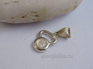 Кулон гирька из серебра