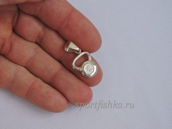 Кулон гиря серебро