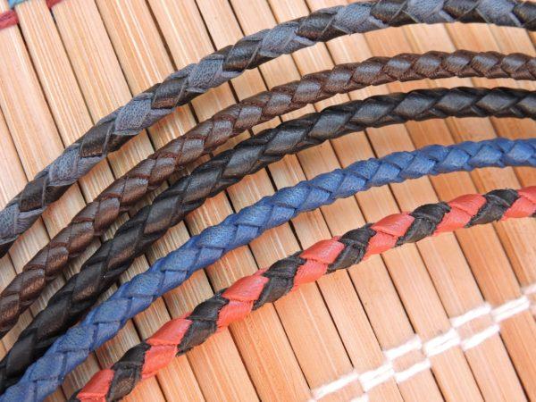 Толстые кожаные шнурки