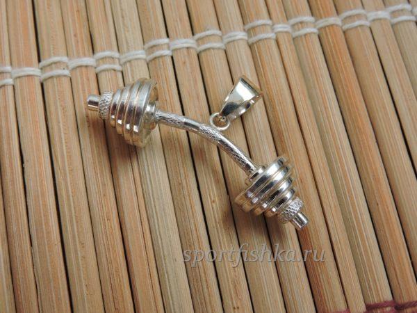 Штанга кулон из серебра