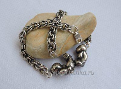 Армрестлинг браслет кулон