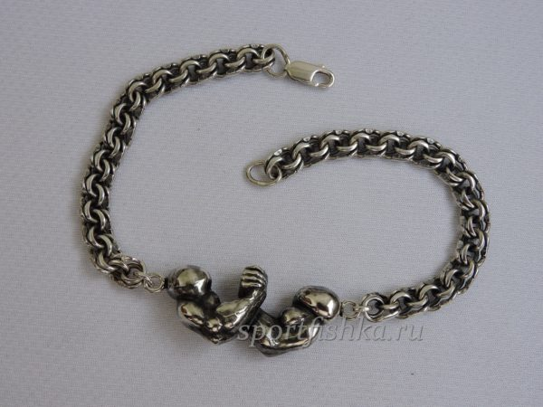 Браслет армрестлинг серебро