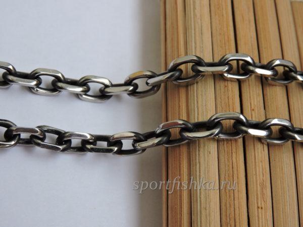 Якорная цепочка с чернением нержавеющая сталь