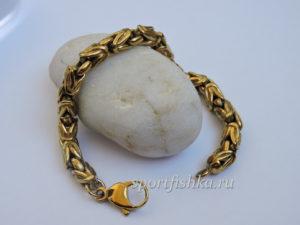 Браслет лисий хвост цвет золото