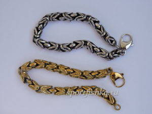 Лисий хвост браслет нержавеющая сталь