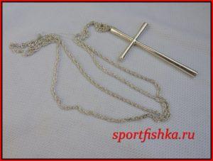Подарок мужчине на день рождения, крест серебряный