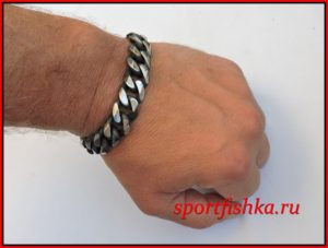 Подарок мужчине на день рождения, стальные браслеты
