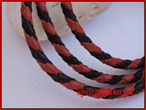 Кожаный шнурок красного цвета