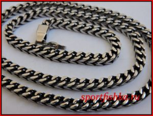 Цепочка оригинального плетения на шею из стали