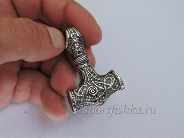 Молот тора оберег кулон серебро