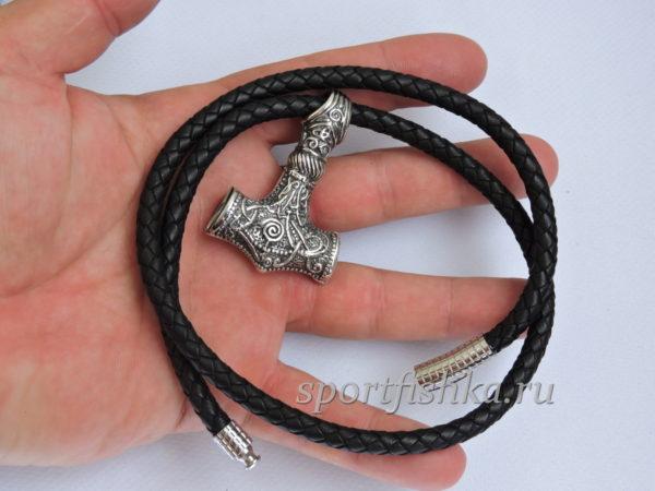 Оберег молот тора, мужские подарки из серебра