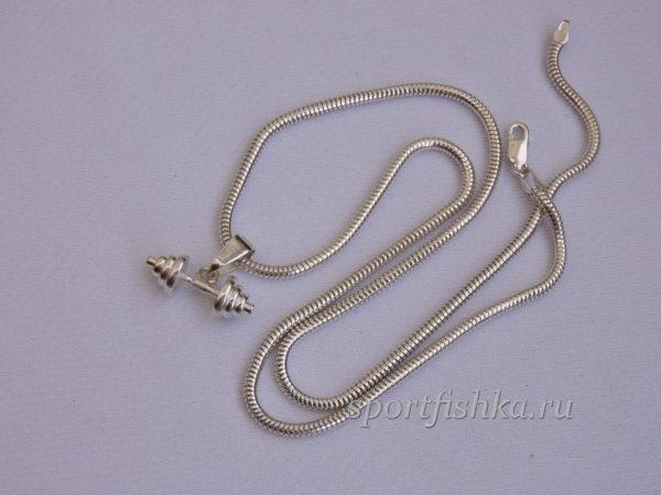 Подарок женщине гантель с цепочкой