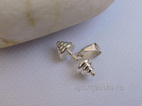 Подарок женщине купить гантель серебро