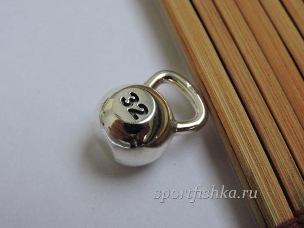 Подарок гиревику, серебряная гиря