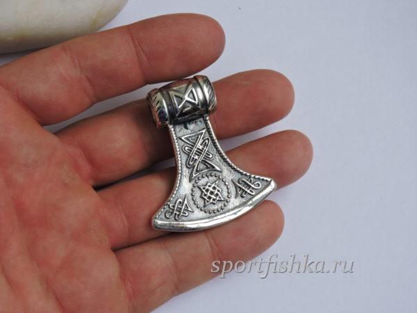 Секира серебро, славянские обереги