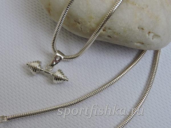 Подарок тренеру женщине серебряная штанга