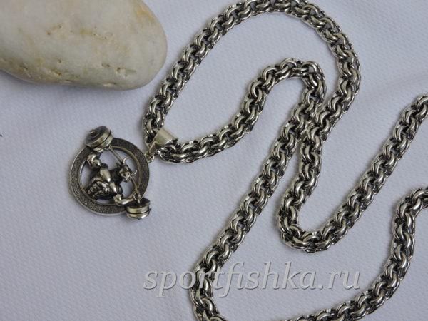Подарок тренеру кулон бык серебро