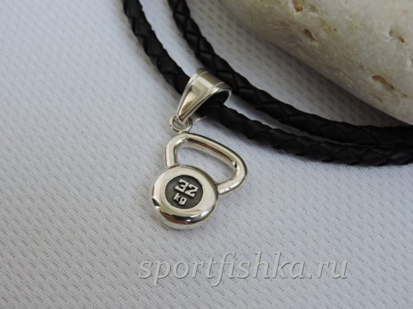 Подарок тренеру серебряная гиря