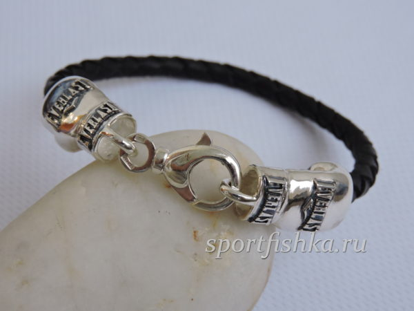 Подарок боксеру браслет серебро