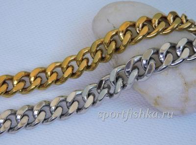 Цепочки из стали золото серебро