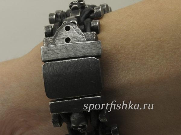 Большой мужской браслет из стали