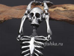 Браслет из стали скелет мужской подарок
