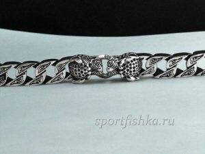 Браслет леопарды серебро