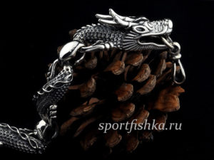 Браслет с головами дракона, мужские подарки оригинальные