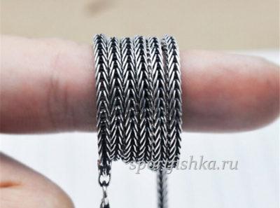 Колос цепочка серебро