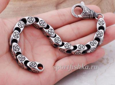Красивый браслет из стали