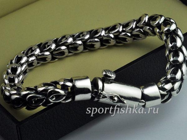 Купить мужской серебряный браслет на руку оригинальный